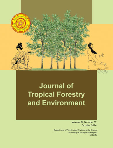 Journal of tropical forestry and environment October 2014