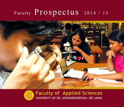 Prospectus Faculty of Applied Science 2015