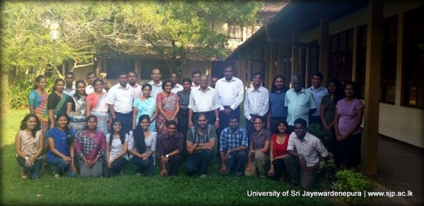Prof Tantrigoda and Physics staff