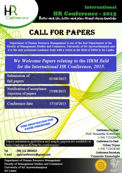 HR Conference call papers