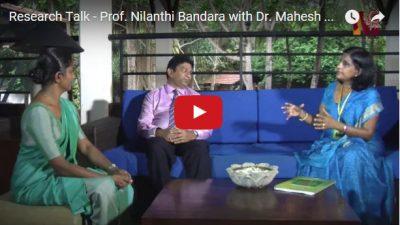 Prof Nilanthi talkes to Dr Mahesh