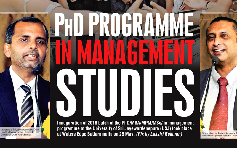 Inauguration ceremony of PhD programme in Management Studies