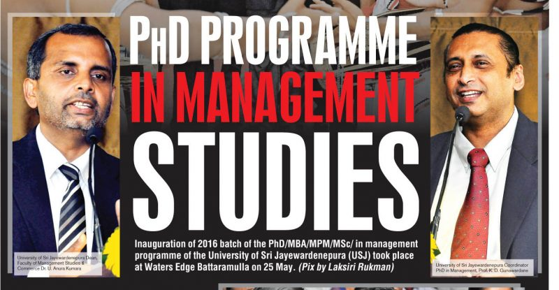 Management Studies Phd programme