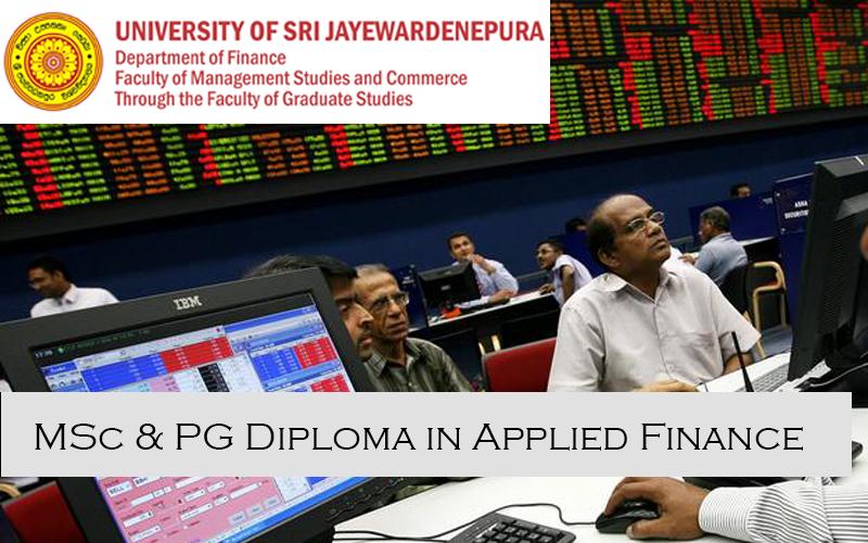 MSc in Applied Finance university of Sri Jayewardenepura
