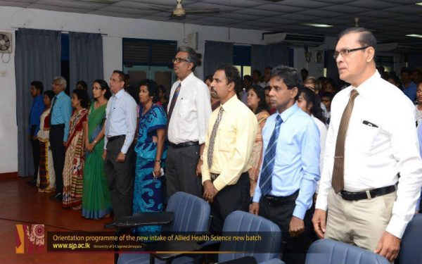 Orientation programme of the new intake of Allied Health Science.