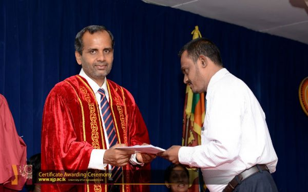 Certificate awarding ceremony