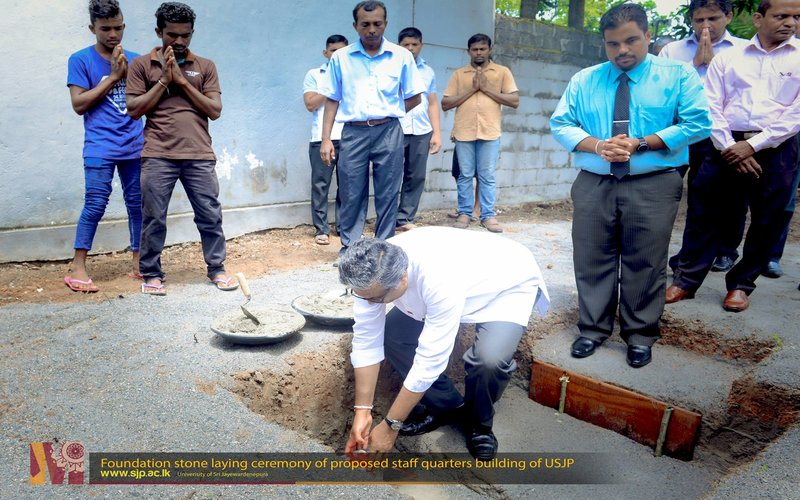 Foundation stone laying ceremony of proposed staff quarters building of University of Sri Jayewardenepura