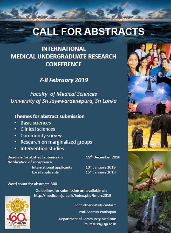 Call for Abstracts – International Medical Undergraduate Research