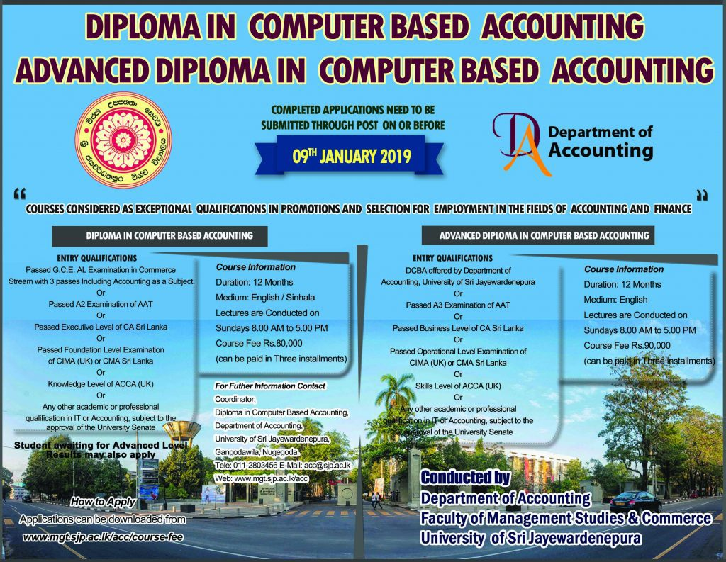 Advanced Diploma in Computer based Accounting