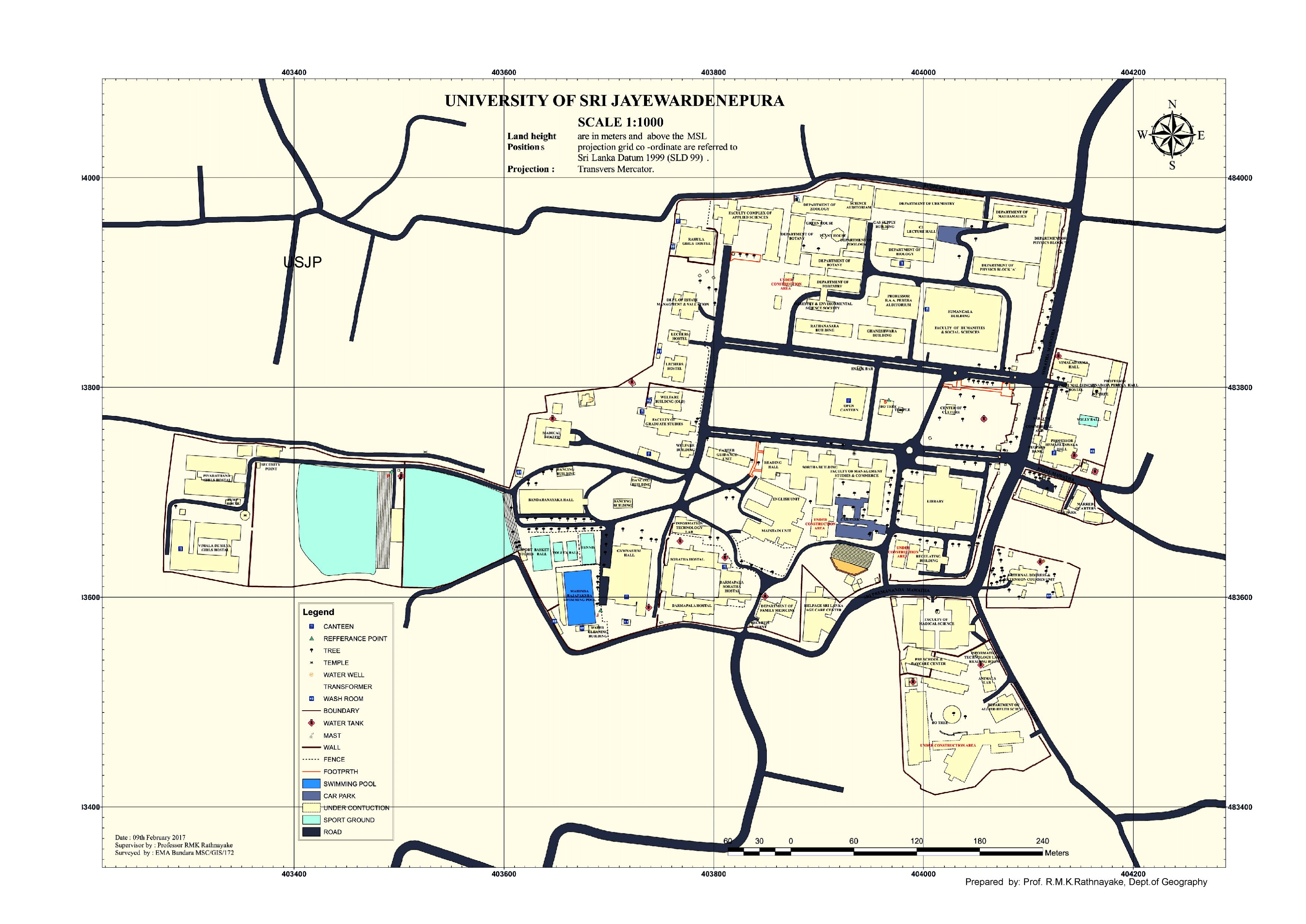 Location map of University of Sri Jayewardenepura - University of