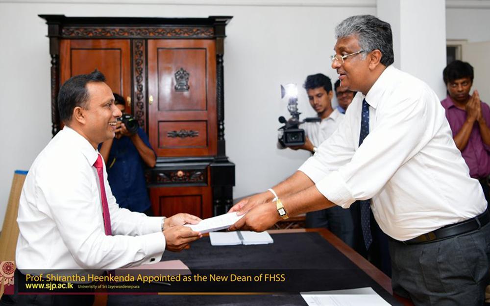 Prof.Heenkenda appointed as the new dean of FHSS, Japura