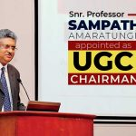 Sr. Prof. Sampath Amaratunge appointed as the Chairman of the University Grants Commission (UGC)