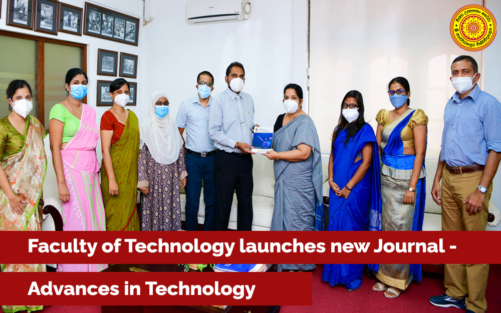 Faculty of Technology launches new Journal - Advances in ...